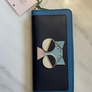 NWT Authentic Kate Spade Cat Wallet